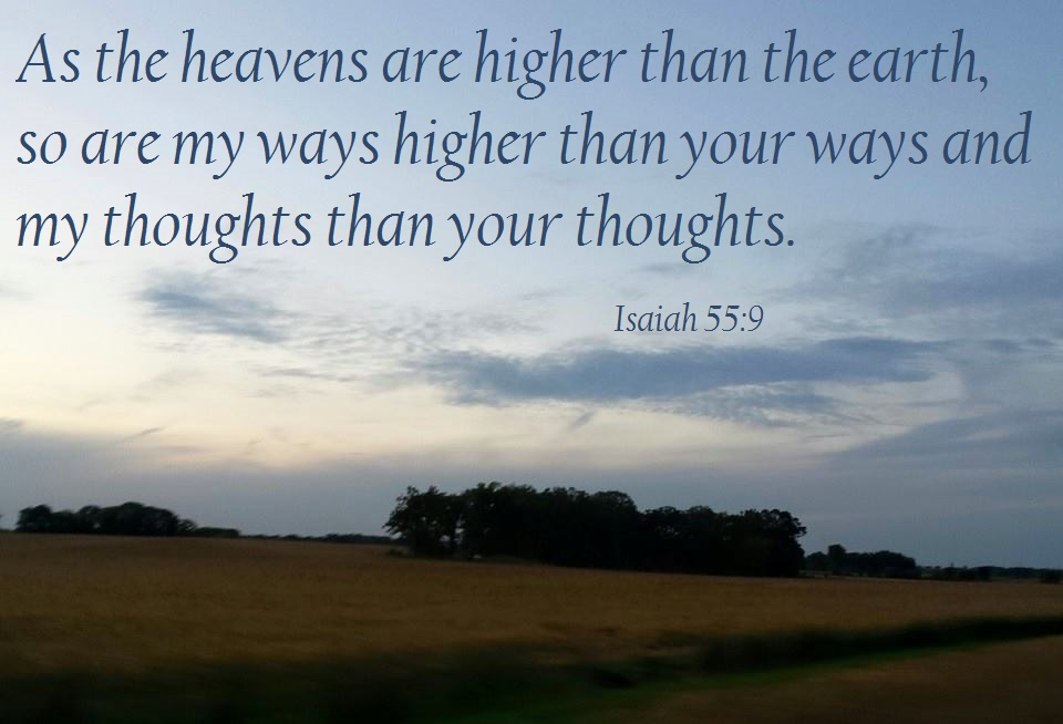 God's Ways are Higher « June G. Paul